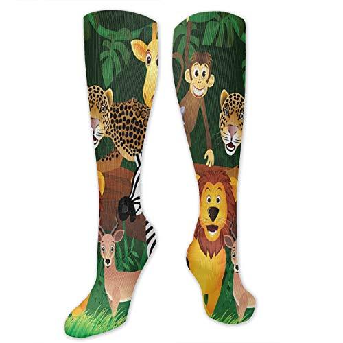 Eybfrre Funny Ethnic Elephant Compression Socks Crew Socks Women /& Men-Best Athletic /& Medical Running Flight Travel Pregnant
