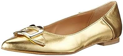 Love Moschino Scarpad.ball10 Laminato Pu Oro, Ballerine Donna, Oro (Gold), 35 EU