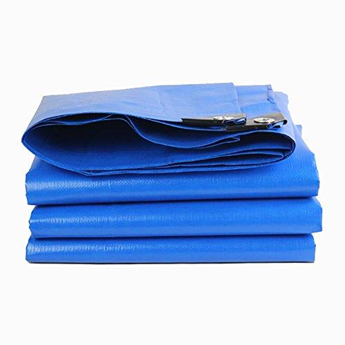 Heavy Duty Tarpaulin Waterproof Plane Abdeckung PE Mehrzweck Outdoor Reversible, Blau/Orange, 180G / M² (größe : 5 * 7 m)