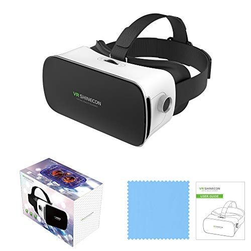 VR - Brille 3D-Virtual-Reality mit Bluetooth Fernbedienung | 3 D Viedos 3 D 360° Videos...