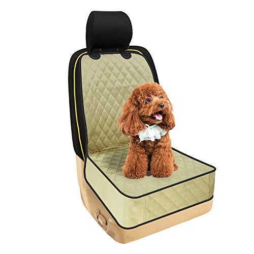 WY1688 Pet Dog Sitzabdeckung Für Auto, Rutschfeste Wasserdichte PET-Schaufelsitz Abdeckung Booster Sitz Verstellbare Hunde Träger Vordersitz,C (Pet-booster Träger)