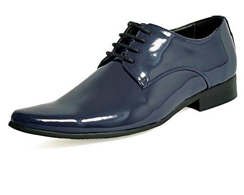 Dobell Herren Lackschuhe Elegante Schuhe Schnürschuhe Abendschuhe Marineblau 41