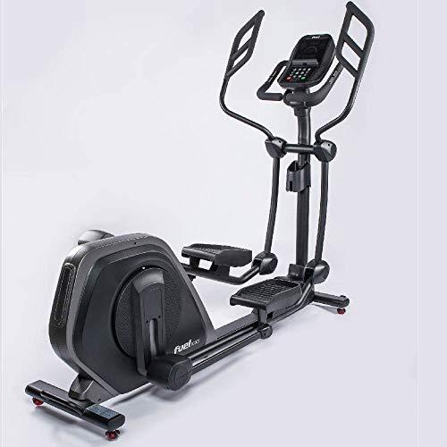 Fuel Fitness EC900 Profi-Crosstrainer, Profi-Crosstrainer für zuhause, Fitnessstudio, Sportverein, Nutzergewicht bis 160kg, gelenkschonendes Training, Ganzkörperworkout, KINOMAP, inkl. Brustgurt