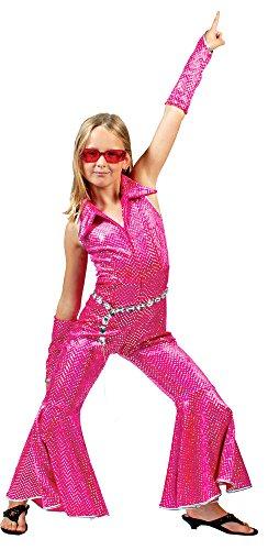 r Mädchen Pink Gr. 116 (70er Jahre Disco Kostüm Zubehör)