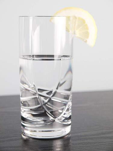 BARSKI-Europäische Qualität Kristall Gläser-Set von 6-Hand Cut Kristall-Highball Tumbler-jedes Hiball Trinkglas ist 14oz-Made in Europe Cut Glas Whiskey