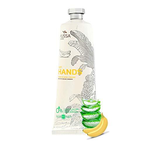 Mussa Canaria Bio Hand Creme Aloevera & Banane 98 % Natural - beruhigende, feuchtigkeitsspendende Lotion für rissige, trockene, empfindliche Haut, arbeiten, beschädigte Hände - Männer, Frauen 100ml