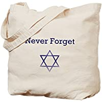 CafePress–Olocausto memoria Stella di David–Borsa di tela naturale, panno borsa per la spesa