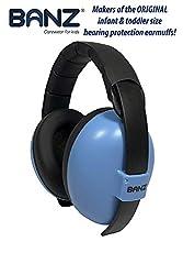 BabyBanz GBB008 Baby-Gehörschutz, 0-2 Jahre, mit extra weichem Kopfbügel, Sky Blue