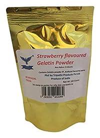 Strawberry Flavoured Gelatin Powder 100gm