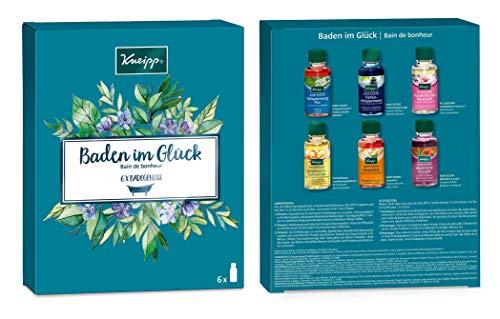 Kneipp Badekollektion, Geschenkpackung, Baden im Glück, 1x Badeset (6 x 20ml) - Bad-geschenk-set