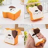 Fcostume Entzückendes simuliertes Toast-Brot super langsames steigendes Kinderspielzeug-Stressabbau Spielzeug (Weiß)