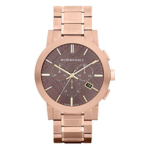 BURBERRY Herren Uhr Analog Quarz mit Edelstahl Armband BU9353