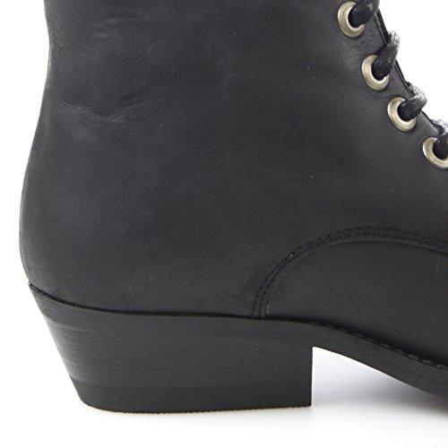 Fashion Boots Stiefelette BU1010 Damen Western Schnürstiefelette (in verschiedenen Farben) Black