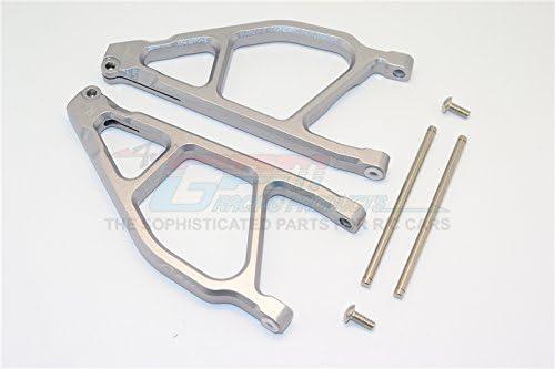 Arrma Nero 6S BLX (AR106009, AR106011) & Fazon 6S BLX BLX BLX (AR106020) Upgrade Pièces Aluminium Front Upper Arms - 1Pr Grey Silver   Une Grande Variété De Marchandises  b37e68
