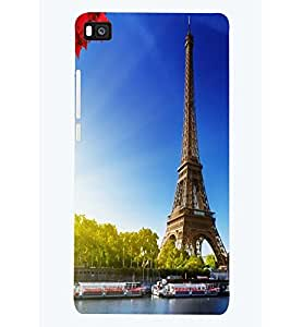 PRINTSWAG TOWER Designer Back Cover Case for HUAWEI P8