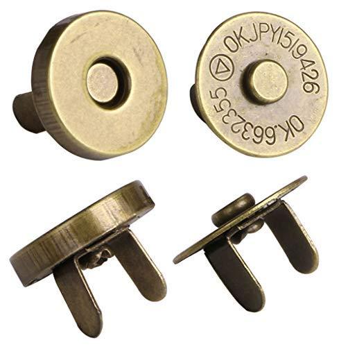 Mini Skater Magnetischer Knopf Verschluss Druckknöpfen-DIY handgefertigt Quilt Zubehör, Taschen, geldbeuteln, Jacken, Bezüge, 6er Pack 18mm bronze -
