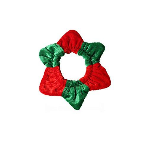 üm Kleidung Hunde Stirnband Hut Katze Kragen Kappe Karneval mit Ohren Zubehör Kopfbedeckung Hut für Cosplay Weihnachten Halloween - Rot Grün ()