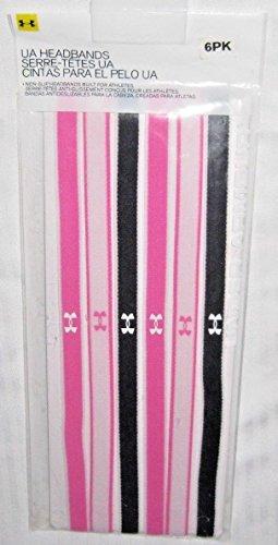 Under Armour Damen UA Mini Kopfband (6Stück), Pink Punk/Phantom Grey