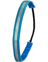 Ivybands–Cinta antideslizante para el pelo banda   Neon Blue Anti-Reflective, Neon Azul Ivybands One Size 1,9cm de ancho cinta antirreflectantes   ivy220