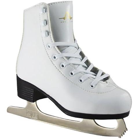 American Athletic Shoe Girl's American Figure Skates pelle, 9, colore: