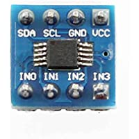vkospy Mini ADS1115 Módulo de 4 Canales 16 bits I2C ADC convertidor analógico a Digital analógico a Digital módulo de conversión