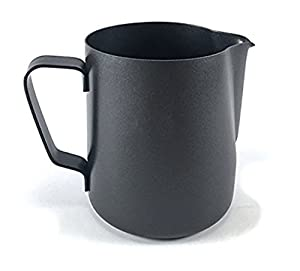 RXBC2011 Milk Pitcher 600ml/20fl.oz. Stainless Steel Milk Cup Milk Frothing Pitcher Milk Jug BLACK