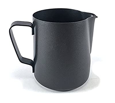 RXBC2011 Milk Pitcher 600ml/20fl.oz. Stainless Steel Milk Cup Milk Frothing Pitcher Milk Jug BLACK