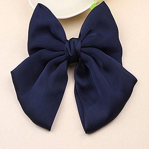 spritech (TM) Seide Stoffe Big bowknot Haar Pin Zubehör Pinch Schwanz für Frauen Haar Blume, blau