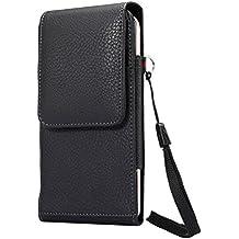 Lordwey® Funda 5.7-6.0inch universal teléfono móvil cinturón caso de la bolsa, Vertical cuero de la PU caja de la cartera de la cintura para el Huawei Mate 8/iPhone 7 Plus/Samsung S8 Plus -negro