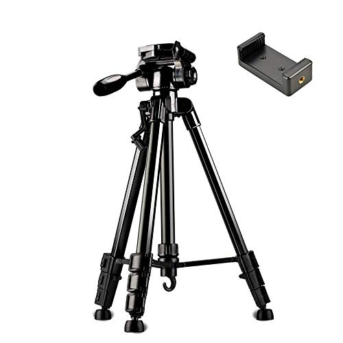 Xhhwzb in fibra di carbonio 57 pollici / 145 centimetri treppiede per macchina fotografica monopiede con testa a sfera da 360 gradi, borsa per fotocamera dslr, videocamera, carica fino a 5 chilogrammi