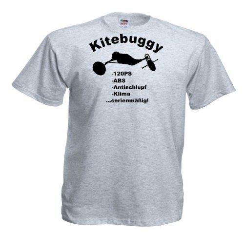 Kitebuggy 120PS T248 Unisex T-Shirt Textilfarbe: grau, Druckfarbe: schwarz