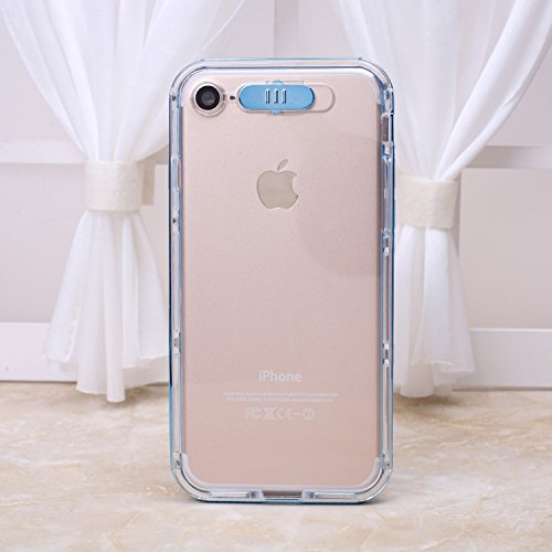 iPhone Case Cover Transparent TPU Soft Cover mince couverture de protection souple clignotant arrière pour iPhone 7 4,7 pouces ( Color : Blue , Size : IPhone 7 ) Blue