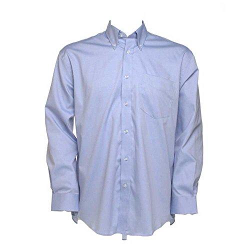 Kustom Kit Mens Corporate Oxford Shirt Long Sleeved Light Blue*