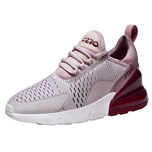 BaZhaHei Sneakers Donna Zeppa,Moda Respirabile Non-Slip Scarpe Sportivo Donne Leggere Scarpe da Corsa Casual Scarpe da Lavoro Running Fitness Shoes con Sportive All'aperto 36-41