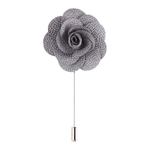 Pixnor Mens Lapel Pin fleur boutonnière à la main pour le costume...
