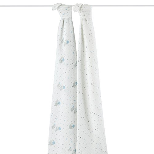 aden + anais 4033G Classic Swaddle Night Sky, 2er pack