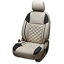 Khushal Leatherite Car Seat Covers Premium Quality Designer Front and Back Seat Cover Set For Renault Kwid With free Steering Cover