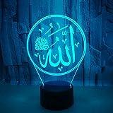 3D Nacht Lightcreative 3D Nachtlicht Islamischer Muhammad Usb Führte Schreibtisch Tischlampe Remote Touch Swotch Baby Schlafen Lighti