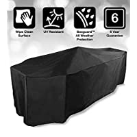 Bosmere Protector 6000 Storm Black 6 Seat Rectangular Patio Set Cover - Black, D530