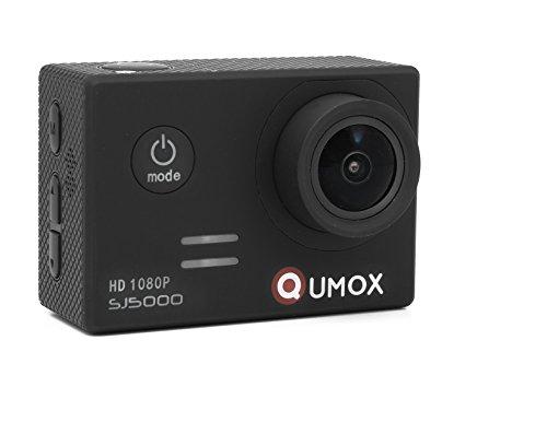 QUMOX SJ5000 - Cámara Deportima Impermeable Para Casco. DVR. Video de Alta Definición 1080p Full-HD de 2.0 Pulgadas Color Negro
