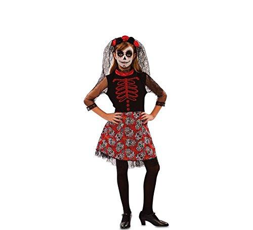 Kostüm Catrina Rot kinder - Niña, de 10 a 12 ()