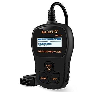 Autophix OM121 OBD2 Diagnosegerät für Kfz-Diagnosegerät für Autos, Motorleuchten, Scanner, Schwarz