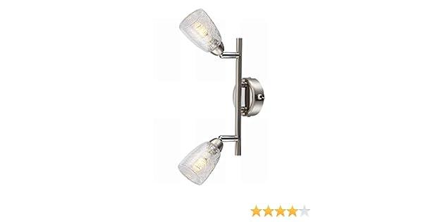 LED Spotleuchten mit Glasschirm schwenkbar Wandstrahler Deckenstrahler für Innen