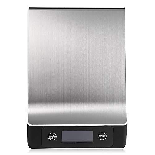 WPCBAA Edelstahl 15 KG / 1G Tragbare Balance Digital Küchenwaage Mit LCD Elektronische Post Plattform Backen Diät Gewicht