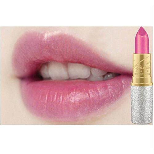 Lip Pigment (Blue Vessel Glitzer Lip Pigment Kosmetik Make-up Nackten Rosa Gold Glitter Lippenstift Langlebige Wasserdichte Lip Gloss kit (02))