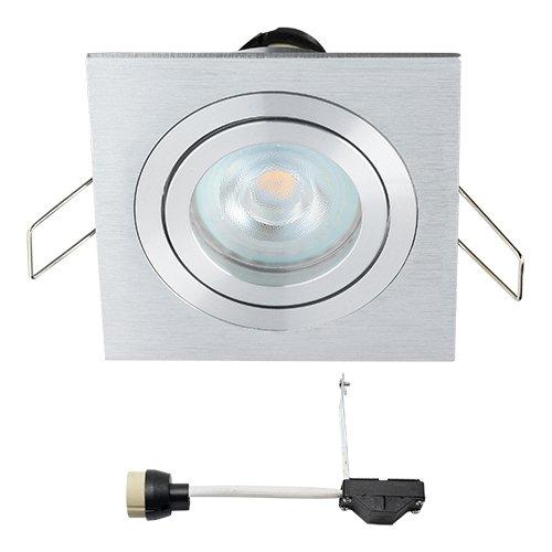 Spot LED encastrable coblux | Spot/Spots Encastrables/encastrés/Downlight/plafond spots encastrables//plafond Luminaires encastrés | 5 W/Carré/orientable/plat/230 V/IP20/Blanc Chaud