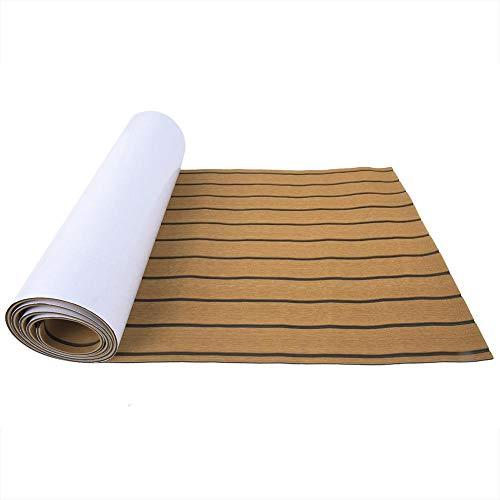 Decking Sheet, Imitation Teak Decking Sheet Surfbrett Boot Yacht Bodenbelag Matte Teppich Pad(#1) (Gummi Boot Teppich)