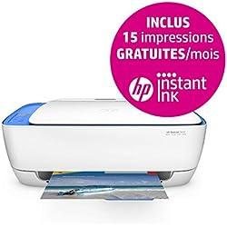 HP DeskJet Imprimante Tout-en-Un 2630 - Multifonctions (A Jet d'encre Thermique, 4800 x 1200 DPI, 60 Feuilles, A4, Impression directe, Bleu, Blanc)