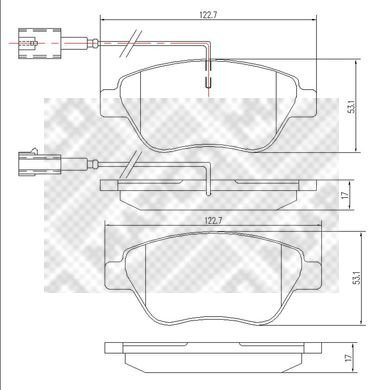 Mapco 6560 - Kit Pastiglie Freno, Freno A Disco