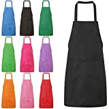 Black Plain Apron With Front Pocket For Chefs Butcher Kitchen Cooking Craft Baking BBQ 60*70 CM for Both Men and Women Pack of 1